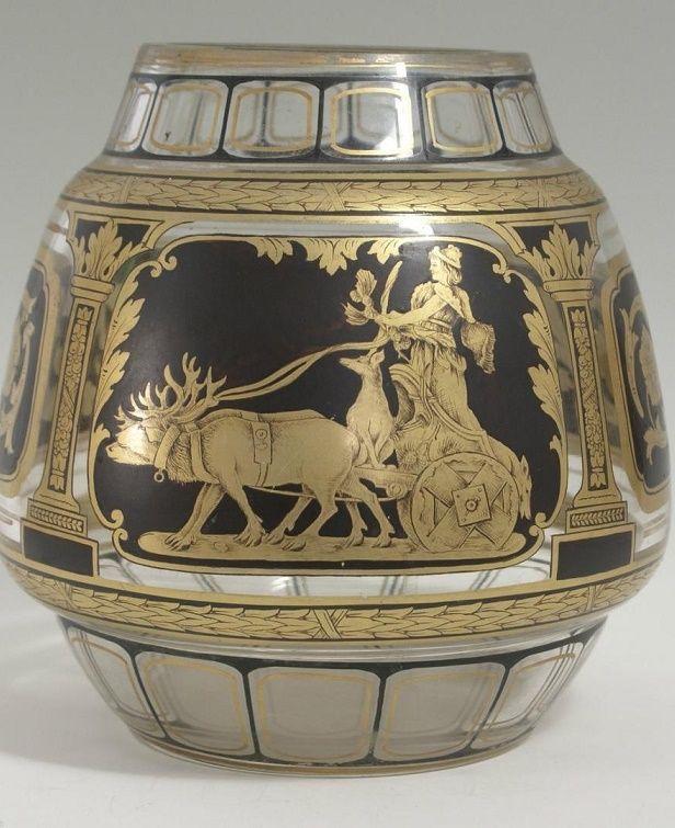 Original 1800's Friedrich Egermann or Josef Pohl Haida Museum Quality Glass