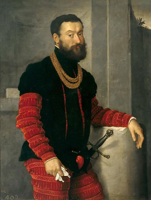 """Giovanni Battista Moroni """"Portrait of a Soldier"""", 1555 (Italy, Late Renaissance / Mannerism, 16th cent.)"""
