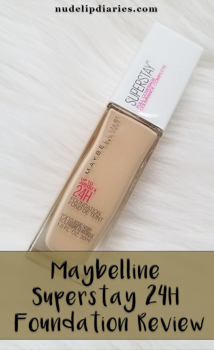 Maybelline Superstay 24H Foundation Review || I've heard a lot of beauty bloggers talking about the Maybelline Superstay 24 Hour foundation. I still can't figure out if the formula or just the packaging is what recently changed with this foundation. I … || #beautyblog #beautyblogger #beautyreview #makeupreview #makeupblogger #beauty #maybelline #maybellinesuperstay #maybellinereview #maybellinefoundation #foundation #foundationreview
