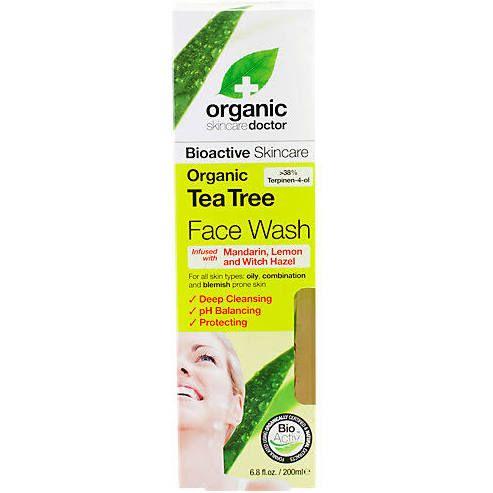 Organic Doctor Organic Tea Tree Face Wash - (6.8 Fluid Ounces Liquid) - Oily & Acne Skin Type