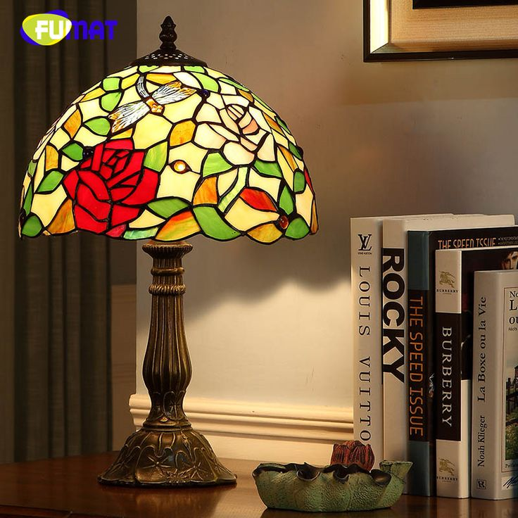 FUMAT Vintage Fashion Table Lamp European Style Lamps For Living Room Bedside Lights Creative Art Dimmer Tiffany Table Lights  #Affiliate