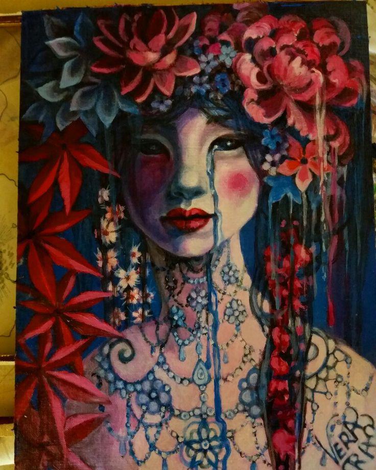 Donna e fiori Vera Rao