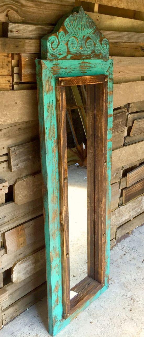 Agave Medium Floor Mirror - Sofia's Rustic Furniture