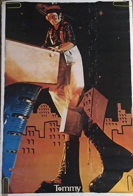 Vintage Poster Tommy Pinball Wizard Elton John Original Pin-up 1970s Music Movie