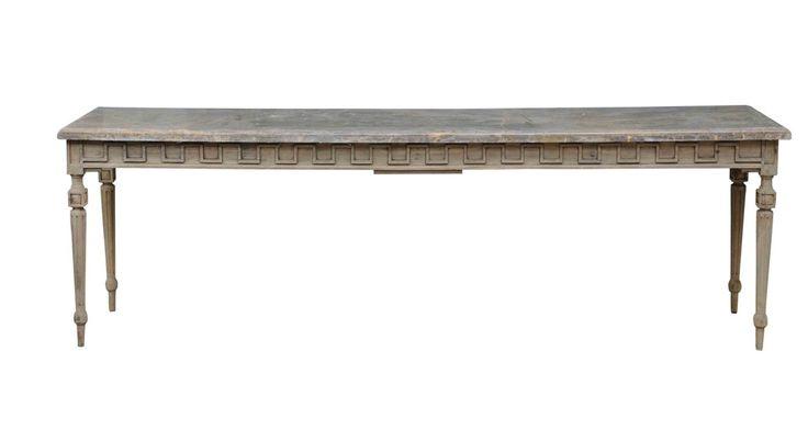 konzolový stůl z restaurovaného dřeva / stylový toskánský nábytek