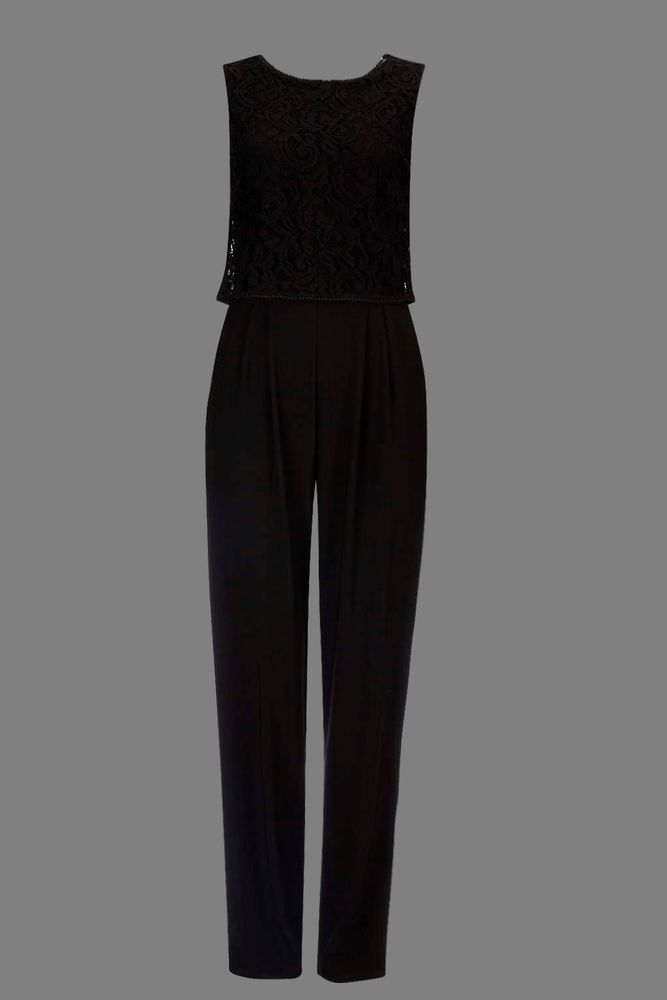 NEW WALLIS Black Lace Overlay Jumpsuit SOLD OUT 8 to 18 RRP £48 Current Season