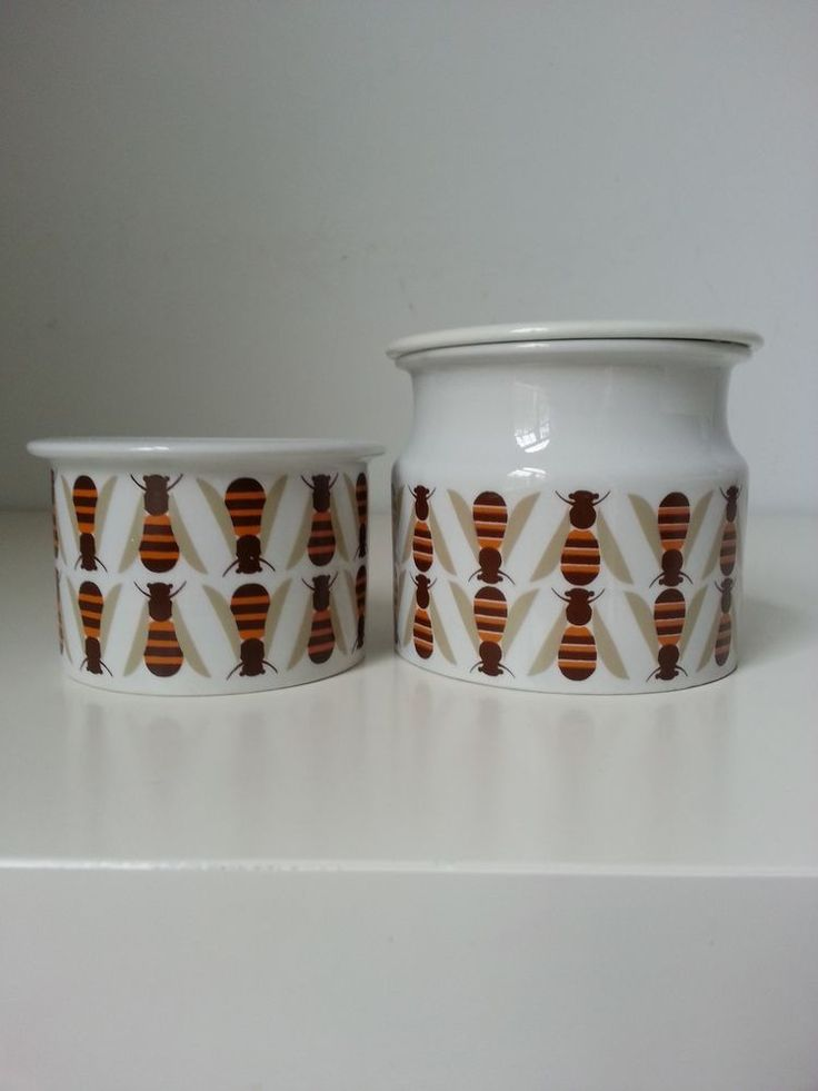 Arabia Finland, honey Jar, Pomona