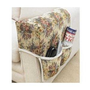 Floral Tapestry Armrest Organiser - Remote Control Holder: Amazon.co.uk: Kitchen & Home