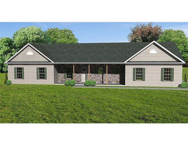 Texas Ranch House Plans With Porches. Interesting Small Ranch House ...