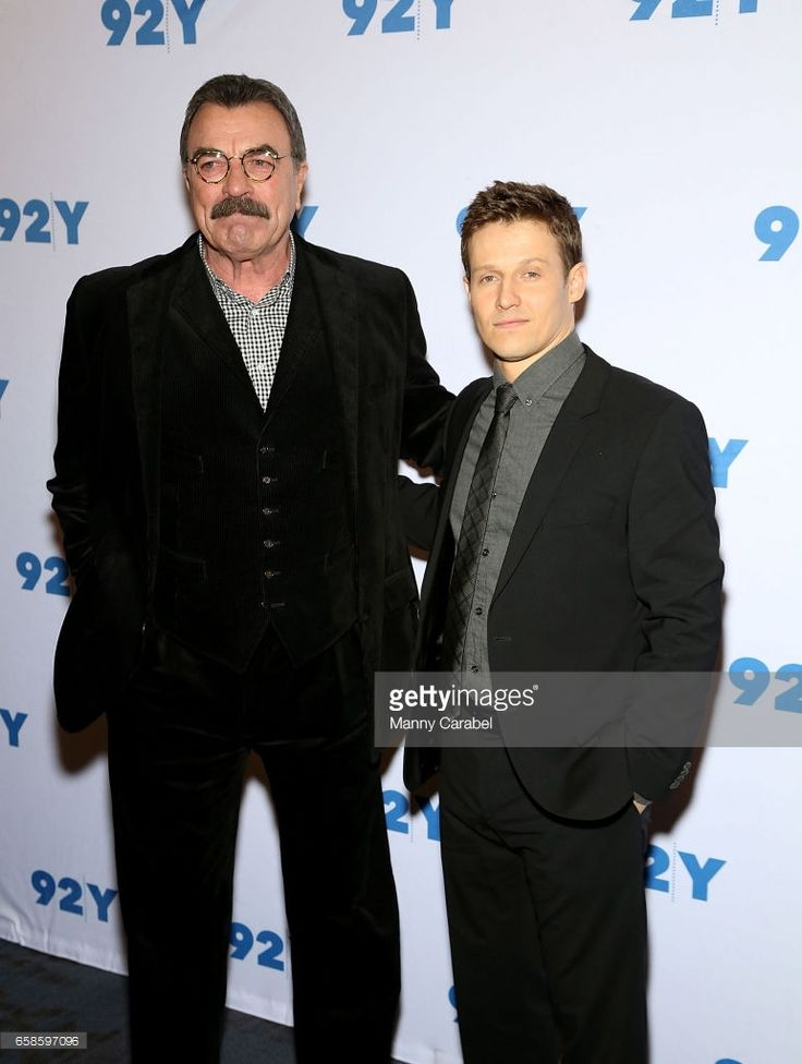 Tom Selleck and Will Estes attend the 'Blue Bloods' 150th Episode Celebration at 92Y on March 27, 2017 in New York City.