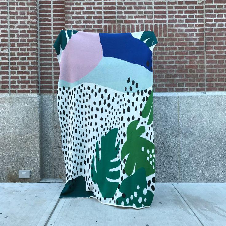 oversized blanket plants jungle pattern