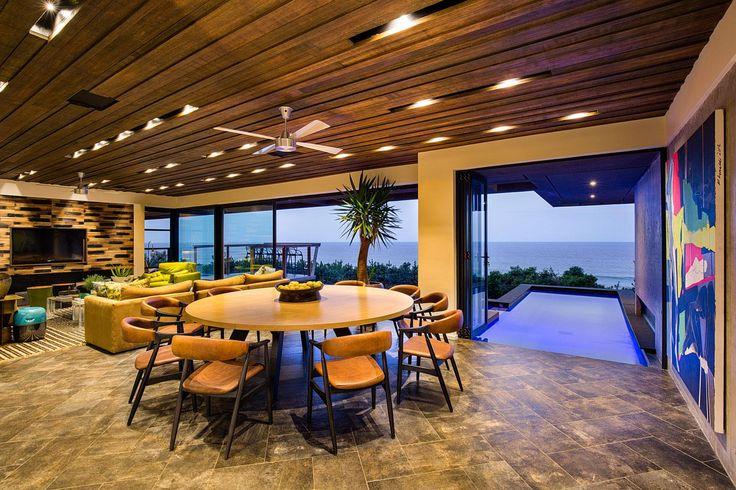 Kör alakú étkezőasztal a nappaliban - nappali ötletek, modern stílusban