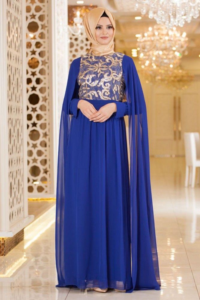 NAYLA COLLECTION - Nayla Collection - Sax Mavi Elbise