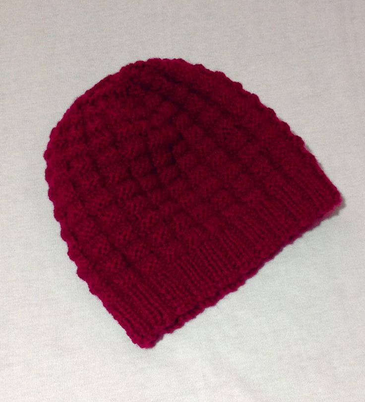 Unisex pure wool hand knitted hat. by shezware on Etsy