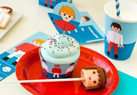 Kit imprimibles de Playmobil #imprimibles #gratis #free #printables #crafts #decoracion #decoration #ideas #birthday #cumpleaños #fiestas #party #candy
