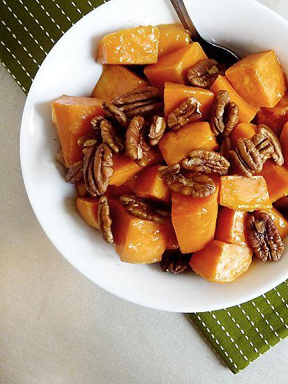 Baked Sweet Potatoes with Orange Caramel Glaze