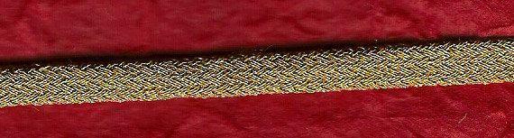 Cordino tubolare intrecciato oro 4199/O di ManifatturadiBreme, €8.94