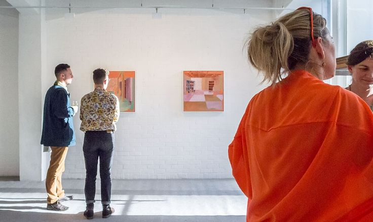 Opening of Kate Small's exhibition, Field, Saturday 13 September 2014. Photo courtesy Arts Diary