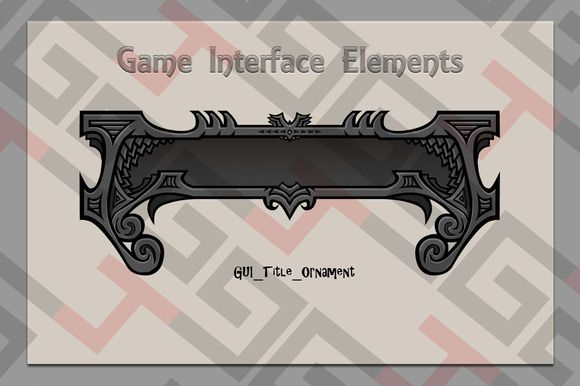 Check out GUI title ornament by Graphics 4 Games on Creative Market