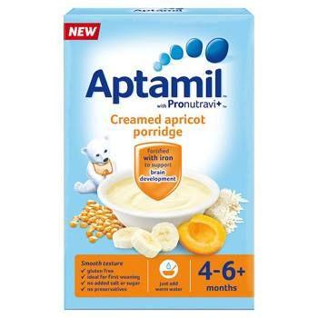 Aptamil 4 Month Creamed Apricot Porridge Packet