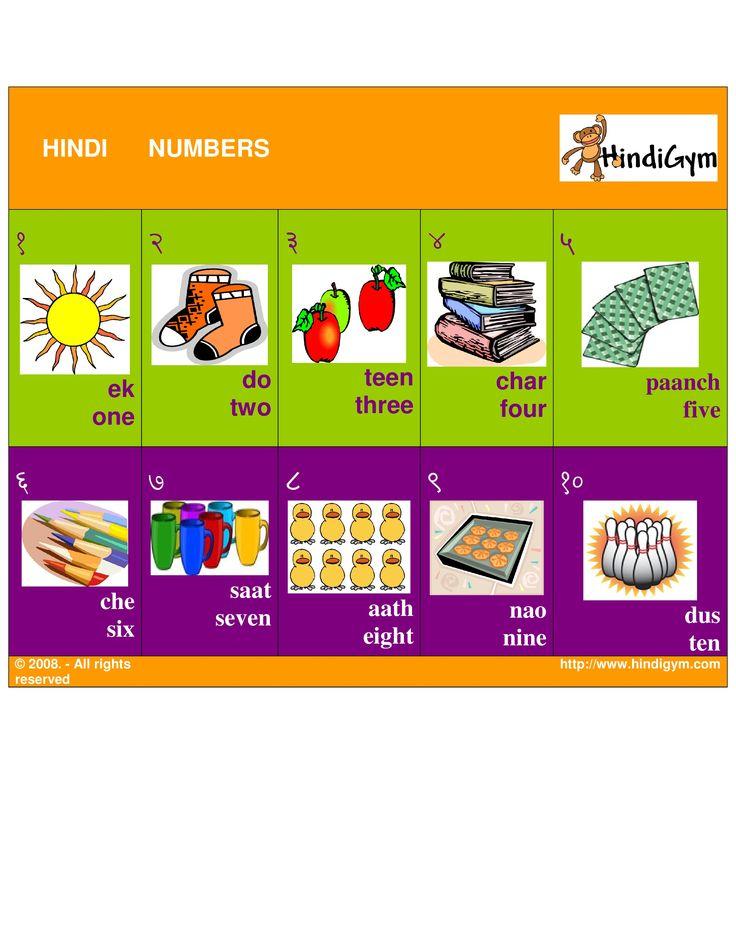 Hindi number chart, free print at home! Ginti. Ank!
