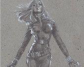 Black Widow, Scarlett Johansson Art Print By Jeff Lafferty