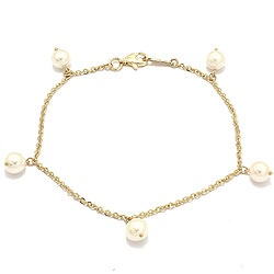 Perle armbånd i 8 karat guld