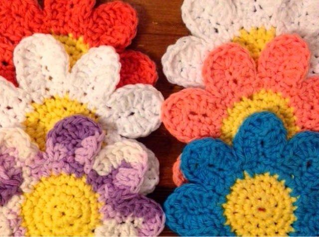 Free Crochet Daisy Coaster Pattern : Momma Mia Moments : New Daisy Coaster Crochet Project ...