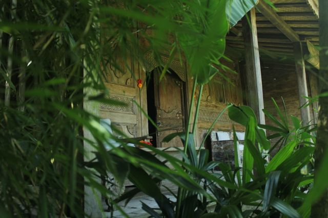 """Our timber bungalows are """"joglo"""" style relocated from Madura and East Java. Beautiful, authentic. I love the rawness and imperfection."""