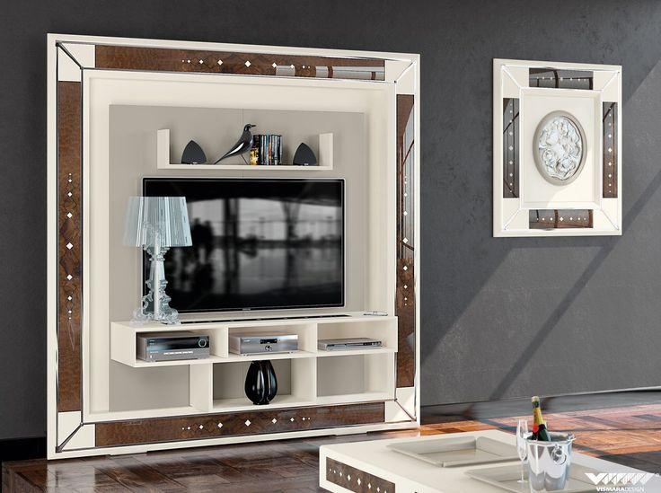#vismaradesign the frame home cinema wallnut briar-root #tvstand #livingroom #luxury