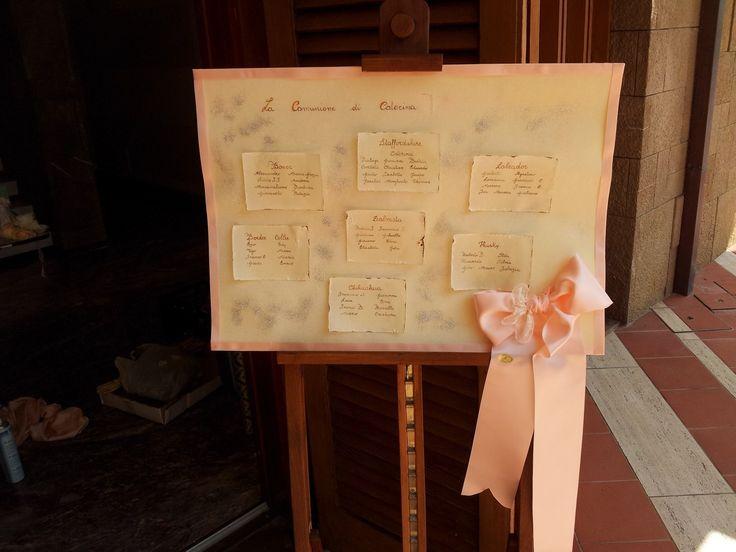 Tableau made by me... Info@ferraliweddingplanner.com