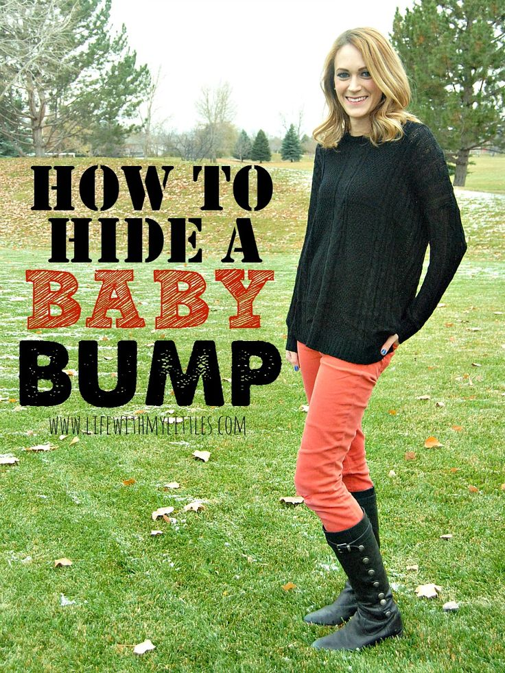 How to hide a baby bump: tips on what to wear to hide your baby bump when you're still trying to keep it a secret! So helpful!