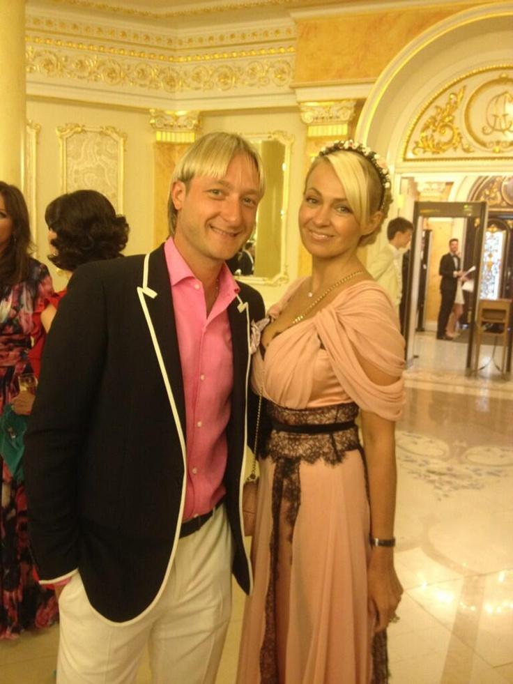 Evgeni Plushenko and Yana Rudkovskaya