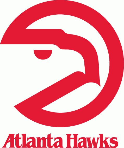 Atlanta Hawks Primary Logo (1973) - A red circle with a hawks head