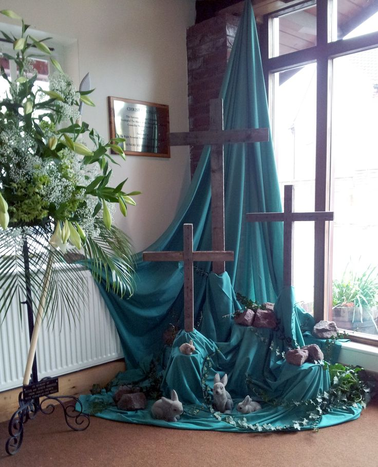 decorating a church for easter