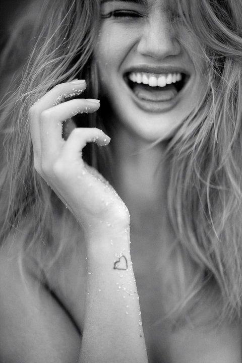 Adorable: Rosie Huntington Whiteley, Girl, Small Tattoo, Beautiful, Tattoo'S, Beauty, Smile, Heart Tattoos, Ink
