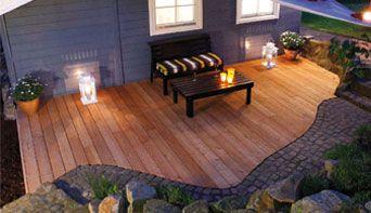 terrasse holz oder naturstein – kartagina, Garten ideen