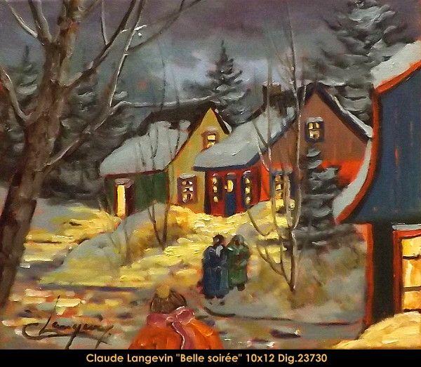 Claude Langevin original oil painting on canvas #claudelangevin #art #artist #canadianartist #quebecartist #originalpainting #oilpainting #countryscene #winterscene #balcondart #multiartltee