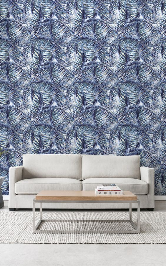 Tropical Leaves Wall Mural Removable Wallpaper by WallfloraShop