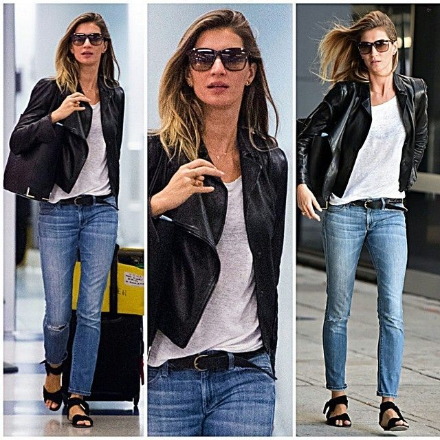 #GiseleBundchen #black #croptop #pink #plaidshirt #plaid #flats #summer #fashion #style #celebrity #football #victoriassecret #angel #beautiful #gorgeous #trend #trendy #chic #ootd #outfit #mirandakerr #vs #brasil #stylish #accessories #heels #shoes #model #fall... - Celebrity Fashion