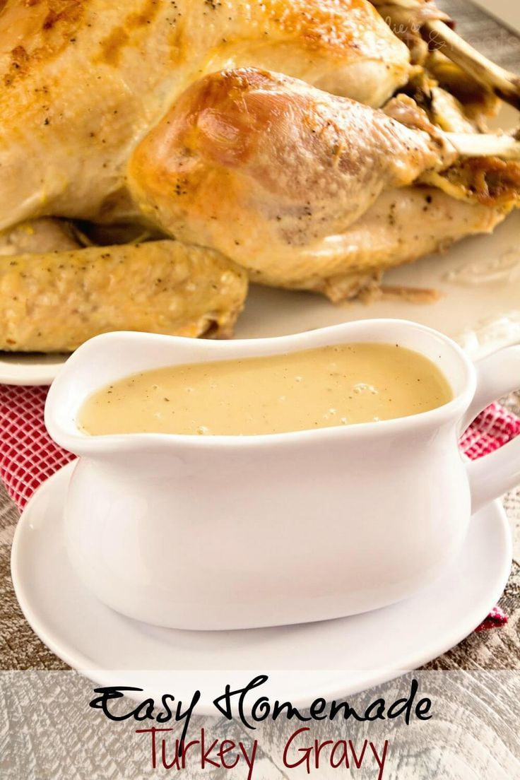 Easy Homemade Gravy Recipe ~ Delicious Homemade Turkey Gravy that Anyone Can Make! ~ http://www.julieseatsandtreats.com