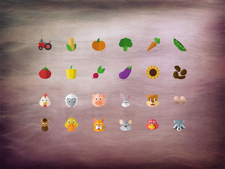 @2x Flat farming icons by Stafie Anatolie