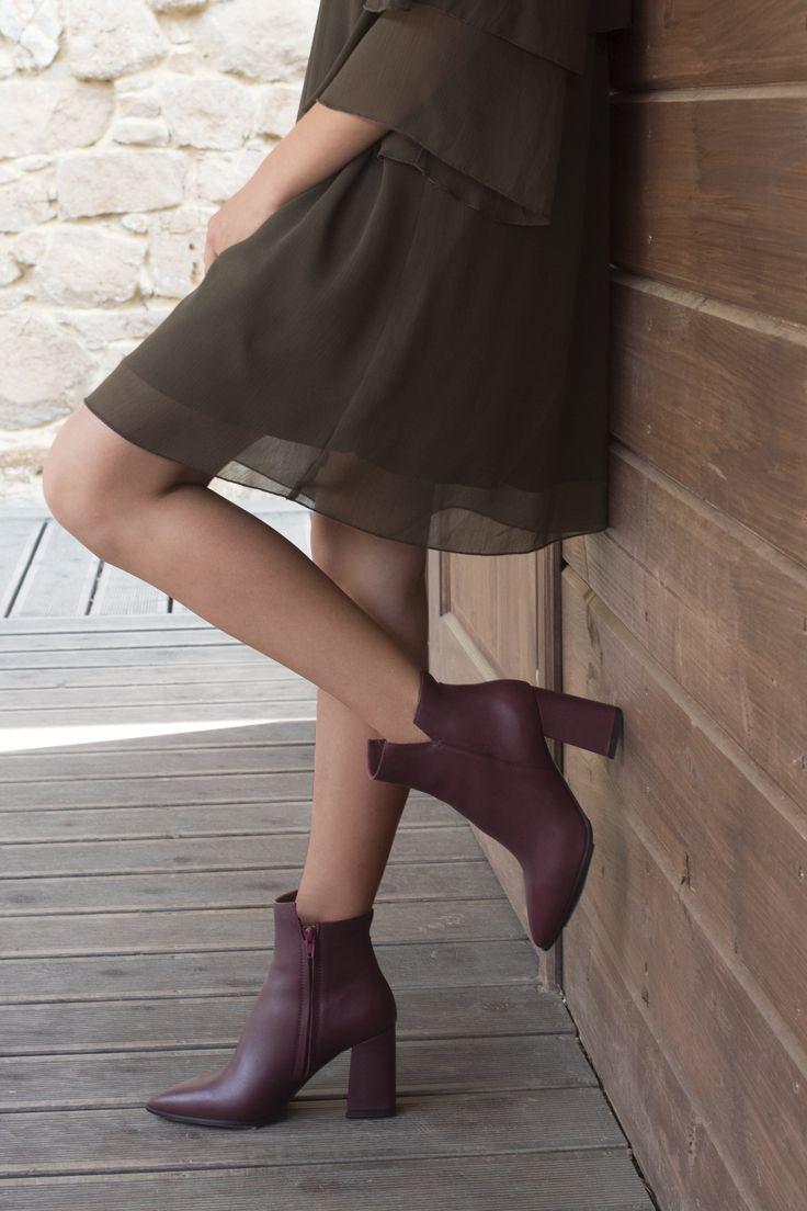 Botki Bordowe Na Obcasie Kim Bi5443 01 Fashion Ballet Skirt Skirts