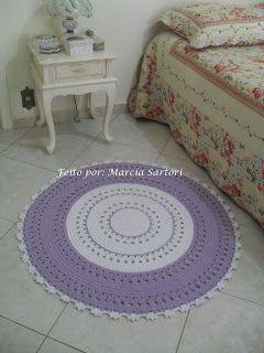 marcia sartori crochetando: Tapete Lilás