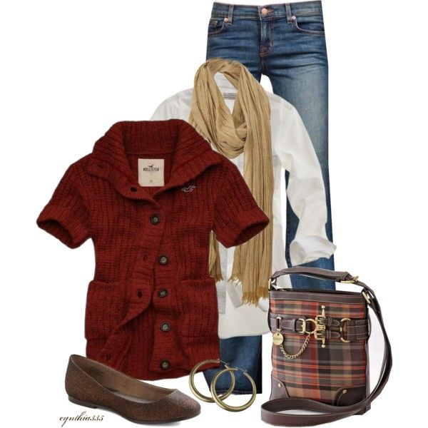 I would rock this while apple picking.....something about the red/burgundy that inspires me lol