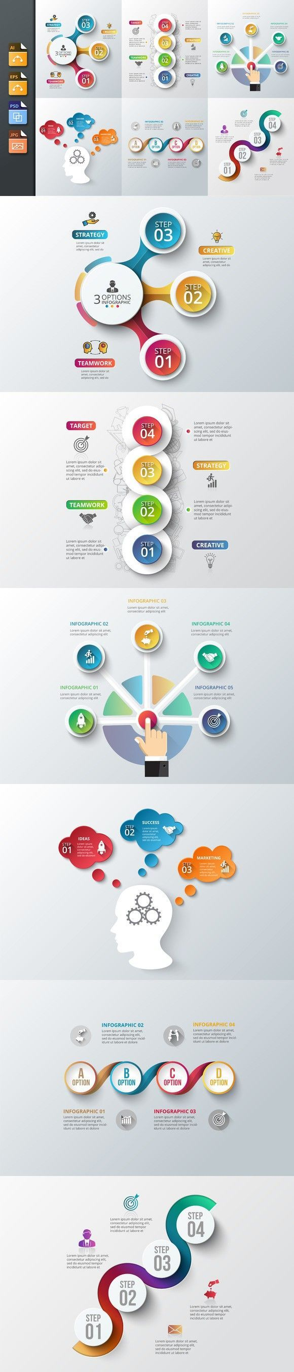 Business infographic : Diagrams for business infographic v6. Human Icons. $5.00