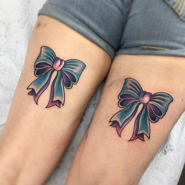 Bow Tattoos And Meanings Bow Tattoos Are Kinda Popular Among Women For Their Grace Sexuality And Beauty The Bow Tattoo Designs Lace Bow Tattoos Bow Tattoo