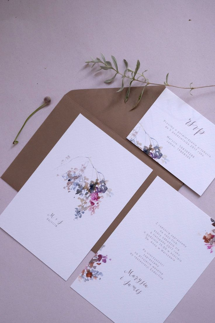 Beautiful Watercolor Fall Invitations by Love Prints
