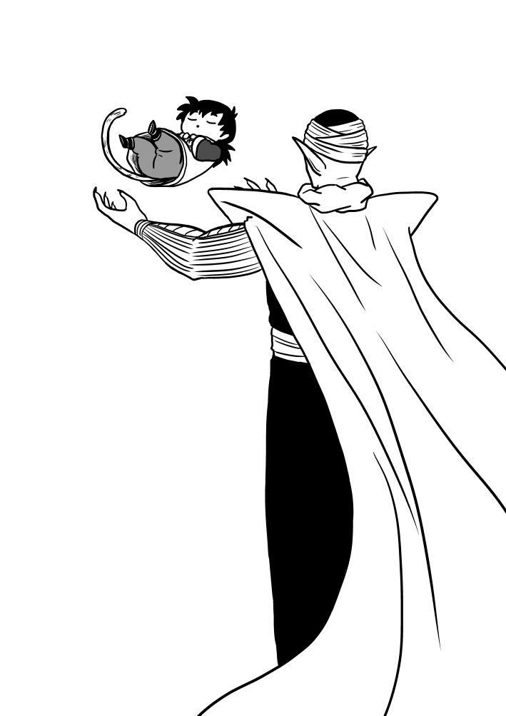 Gallery For gt Piccolo Dragon Ball Z Black And White
