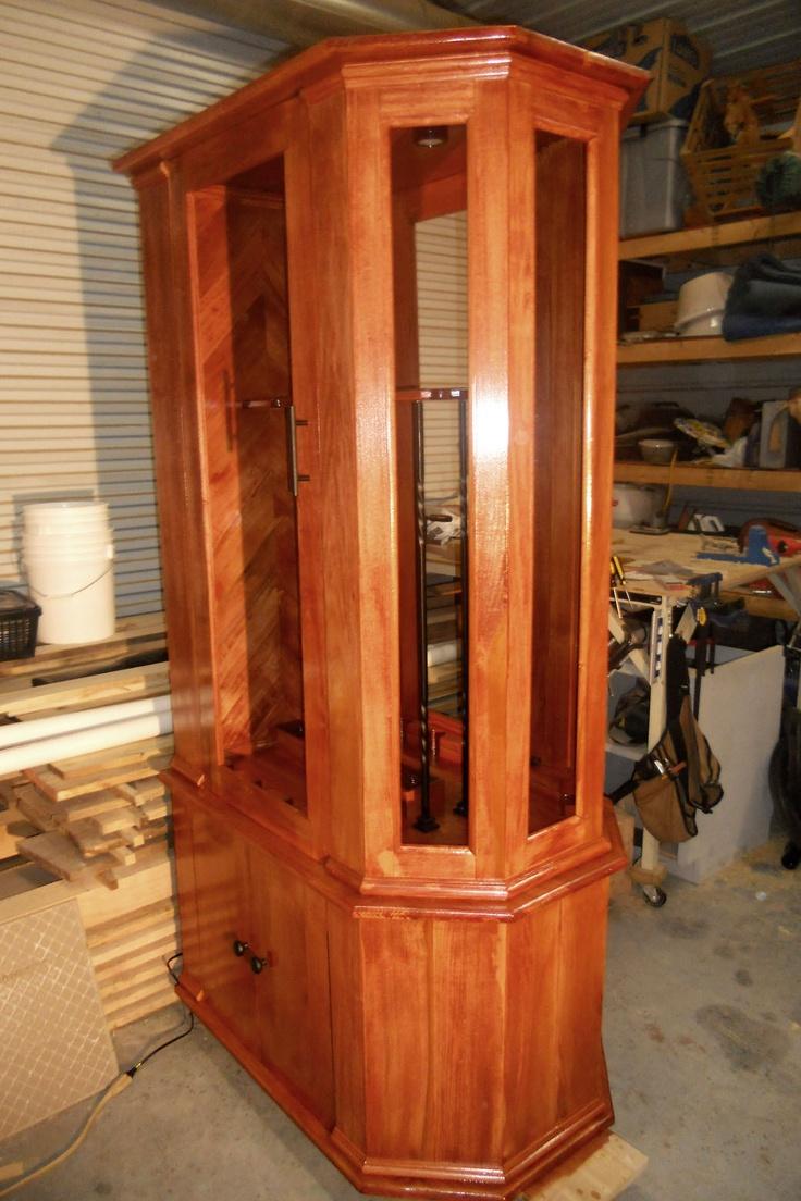 Custom made show case gun cabinet.